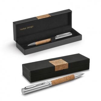Bolígrafo. Corcho y metal